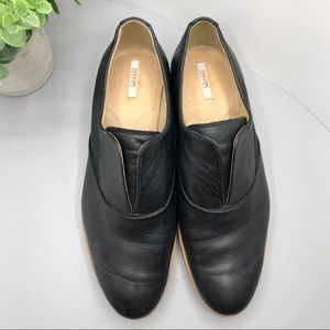 Geox Respira black leather loafers flats size38